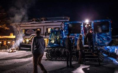 Cene con motoslitta o gatto delle nevi sull'Alpe Cimbra