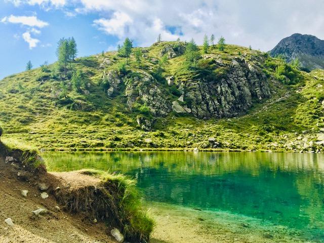 Antico quadro felice vellan margna lago silva plana torino