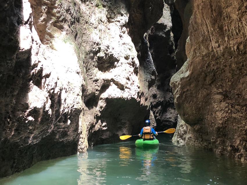 In kayak nelle gole del Rio Novella